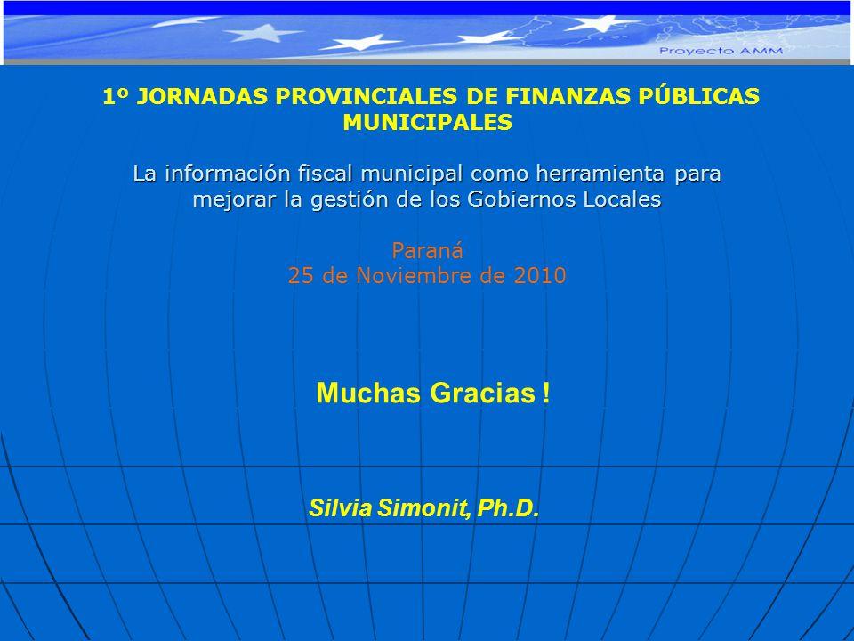 Muchas Gracias . Silvia Simonit, Ph.D.