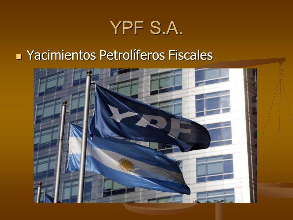 YPF S.A. Yacimientos Petrolíferos Fiscales Yacimientos Petrolíferos Fiscales
