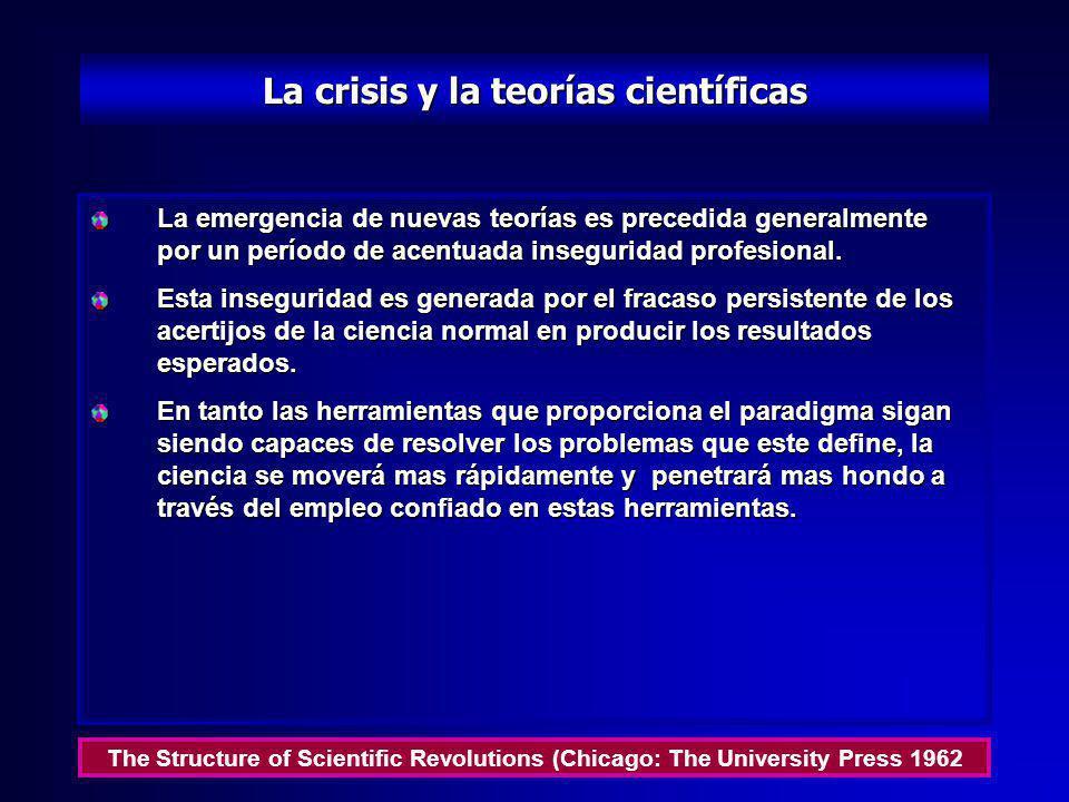 La anomalía y el descubrimiento científico Un descubrimiento comienza con el percatarse de la anomalía, con el reconocimiento de que la naturaleza ha