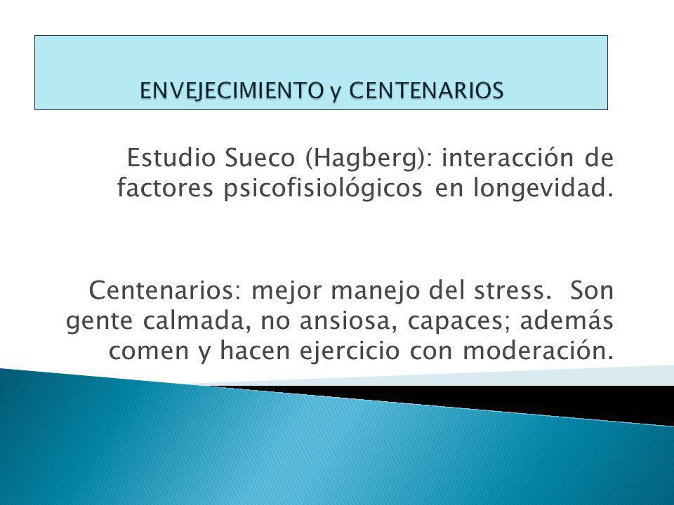 Estudio Sueco (Hagberg): interacción de factores psicofisiológicos en longevidad.