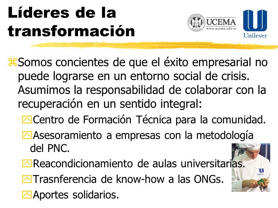 Líderes de la transformación zSomos concientes de que el éxito empresarial no puede lograrse en un entorno social de crisis.