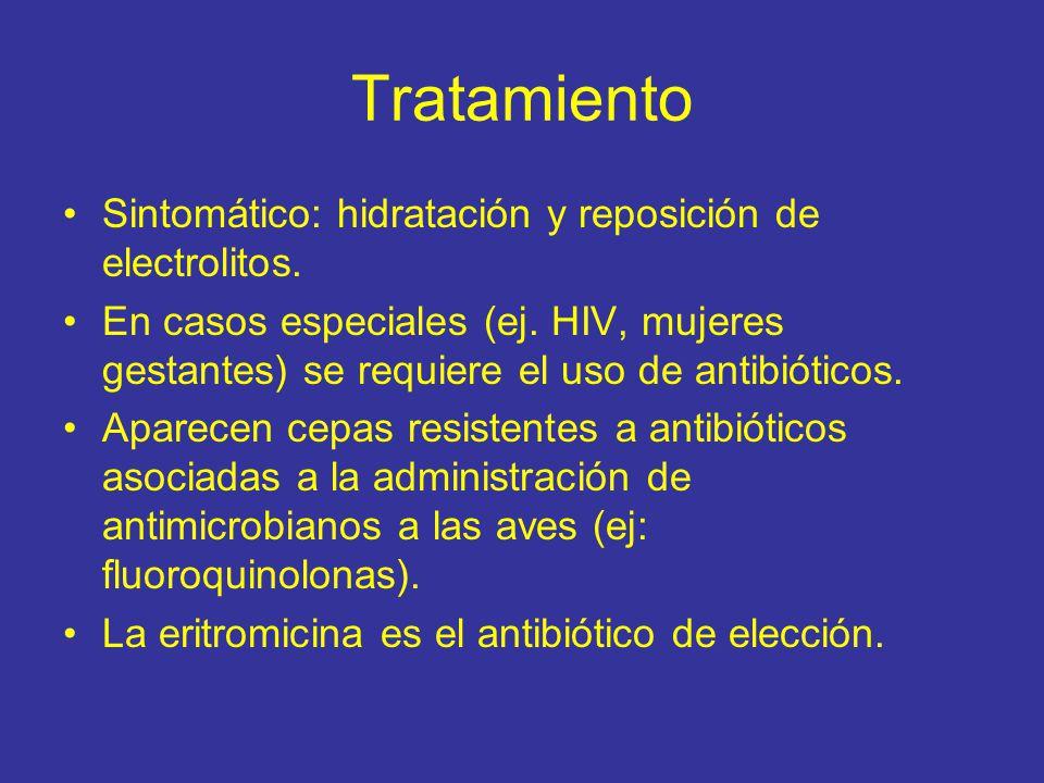 Tratamiento Sintomático: hidratación y reposición de electrolitos.
