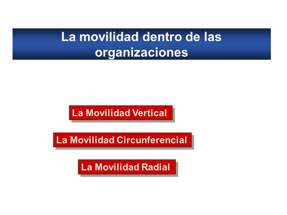 La movilidad dentro de las organizaciones La Movilidad Vertical La Movilidad Circunferencial La Movilidad Radial