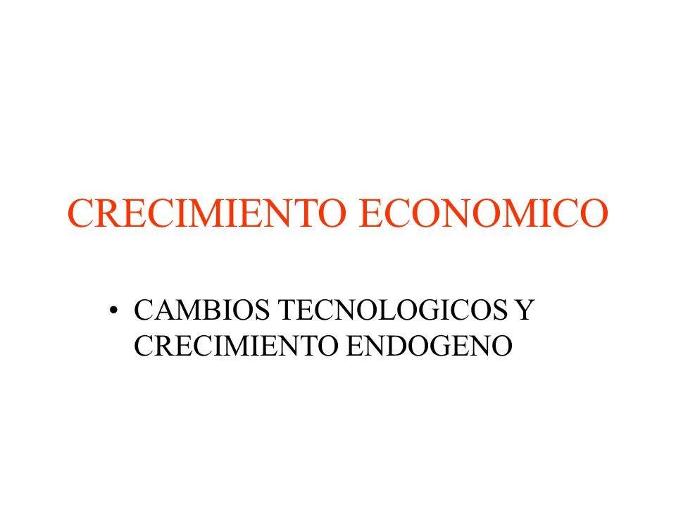 CRECIMIENTO ECONOMICO CAMBIOS TECNOLOGICOS Y CRECIMIENTO ENDOGENO