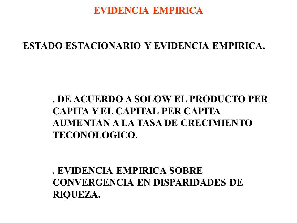 ESTADO ESTACIONARIO Y EVIDENCIA EMPIRICA..