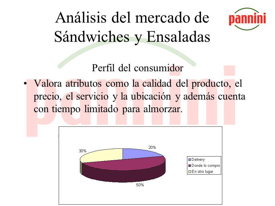 Análisis del mercado de Sándwiches y Ensaladas TARGET El mercado del Microcentro reúne a una gran cantidad de trabajadores (370000 personas según estadísticas de la Dirección General de Estadística y Censo del Gob.