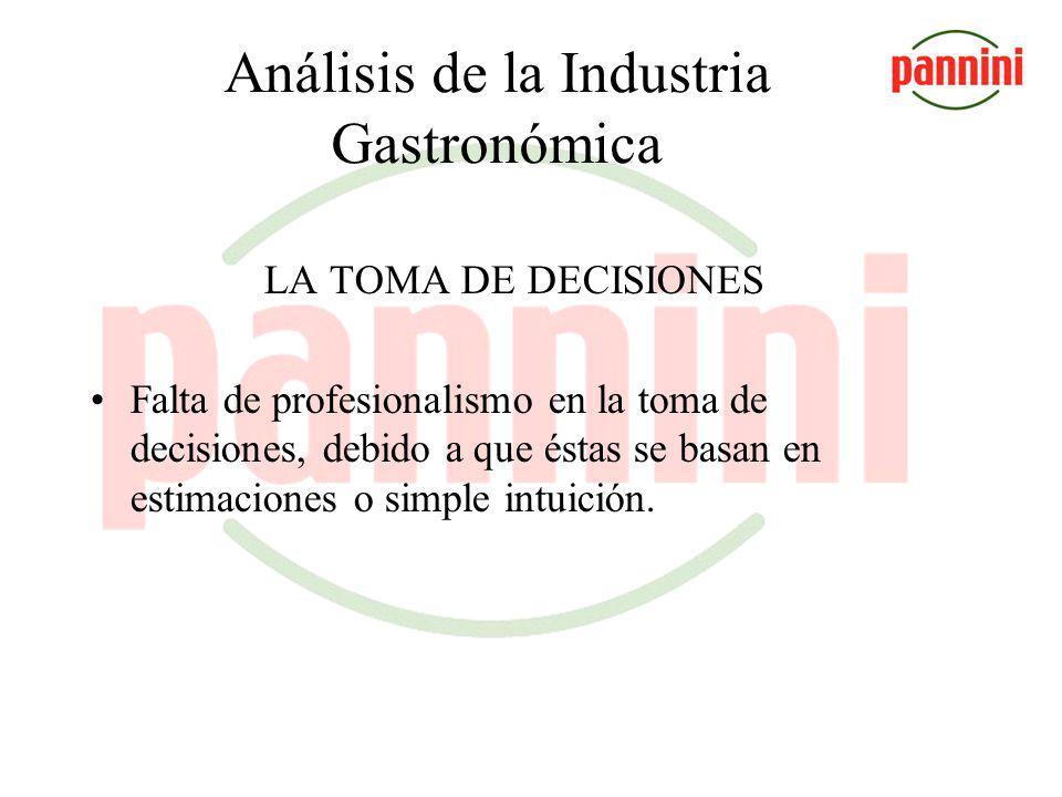 Análisis de la Industria Gastronómica LA CAPACITACIÓN Contradicción entre la percepción del mercado y la respuesta de los empresarios.