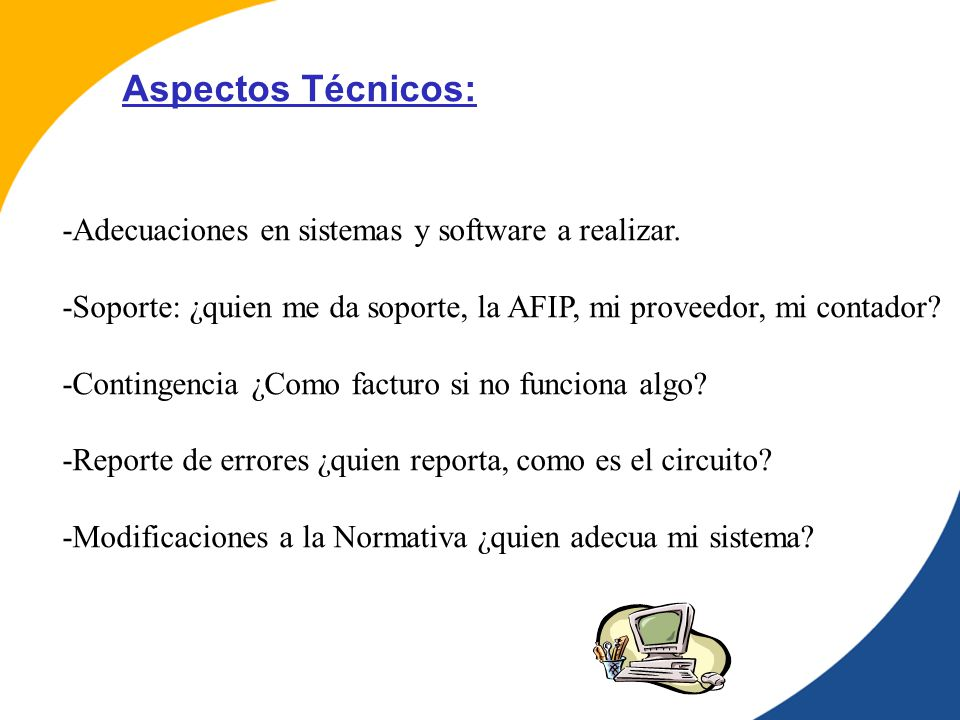 -Adecuaciones en sistemas y software a realizar.