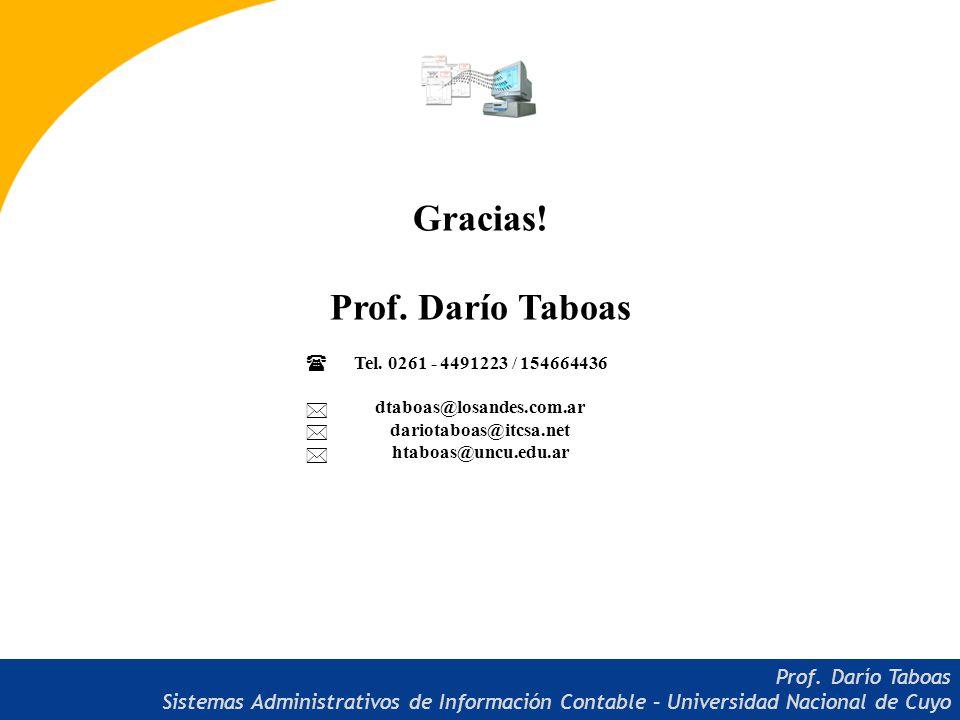 Gracias.Prof. Darío Taboas Tel.