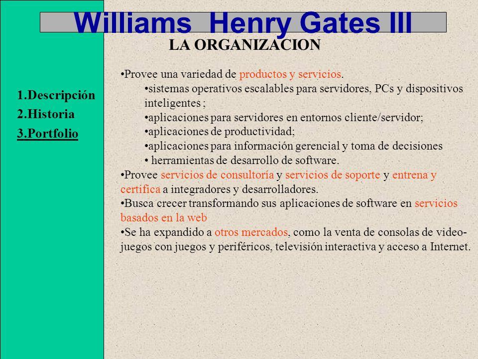 Williams Henry Gates III Nuestra misión es permitir que personas y negocios, a lo largo del mundo, se potencien.