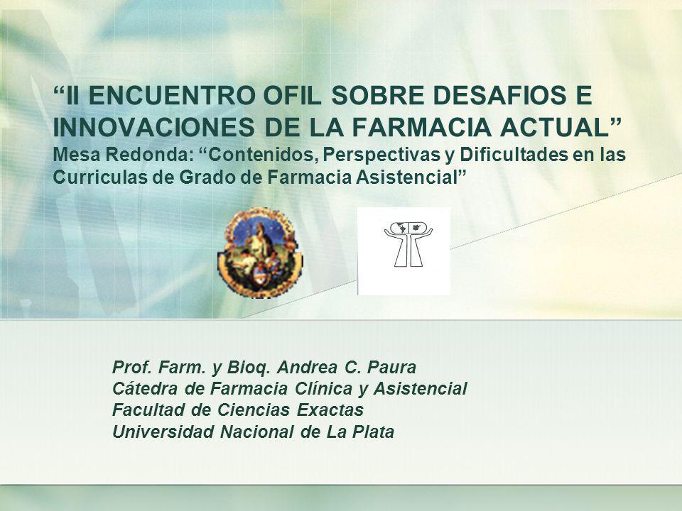 Boletín de Actualización Farmacoterapéutica Evaluación de nuevos productos utilizados con fines terapéuticos Cátedra de Farmacia Clínica y Asistencial Depto.
