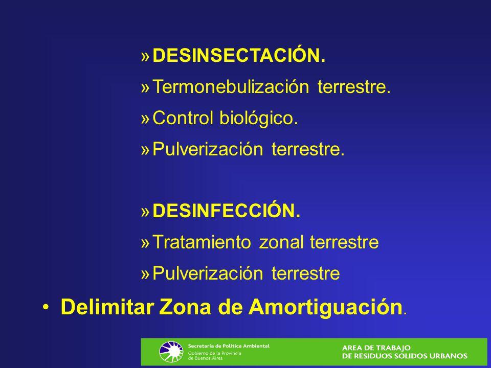 »DESINSECTACIÓN. »Termonebulización terrestre. »Control biológico. »Pulverización terrestre. »DESINFECCIÓN. »Tratamiento zonal terrestre »Pulverizació