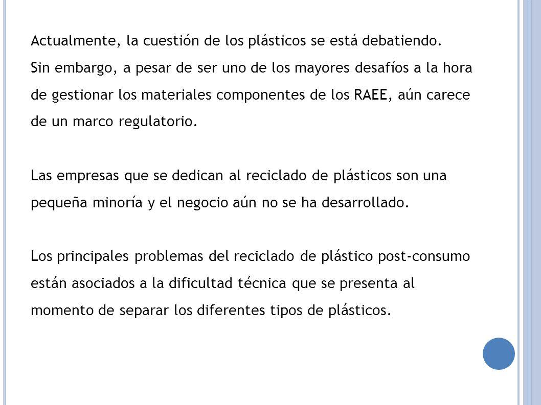 Actualmente, la cuestión de los plásticos se está debatiendo.