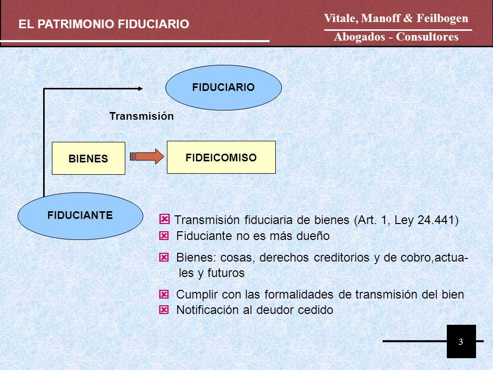 4 La Propiedad Fiduciaria El Fiduciario es propietario de los bienes transmitidos.