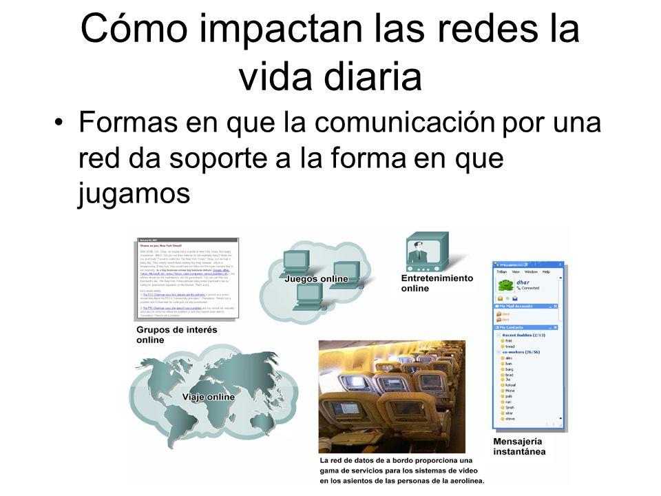 Comunicación de los mensajes Los datos son enviados a través de la red en pequeños fragmentos llamados segmentos Elementos de la comunicación