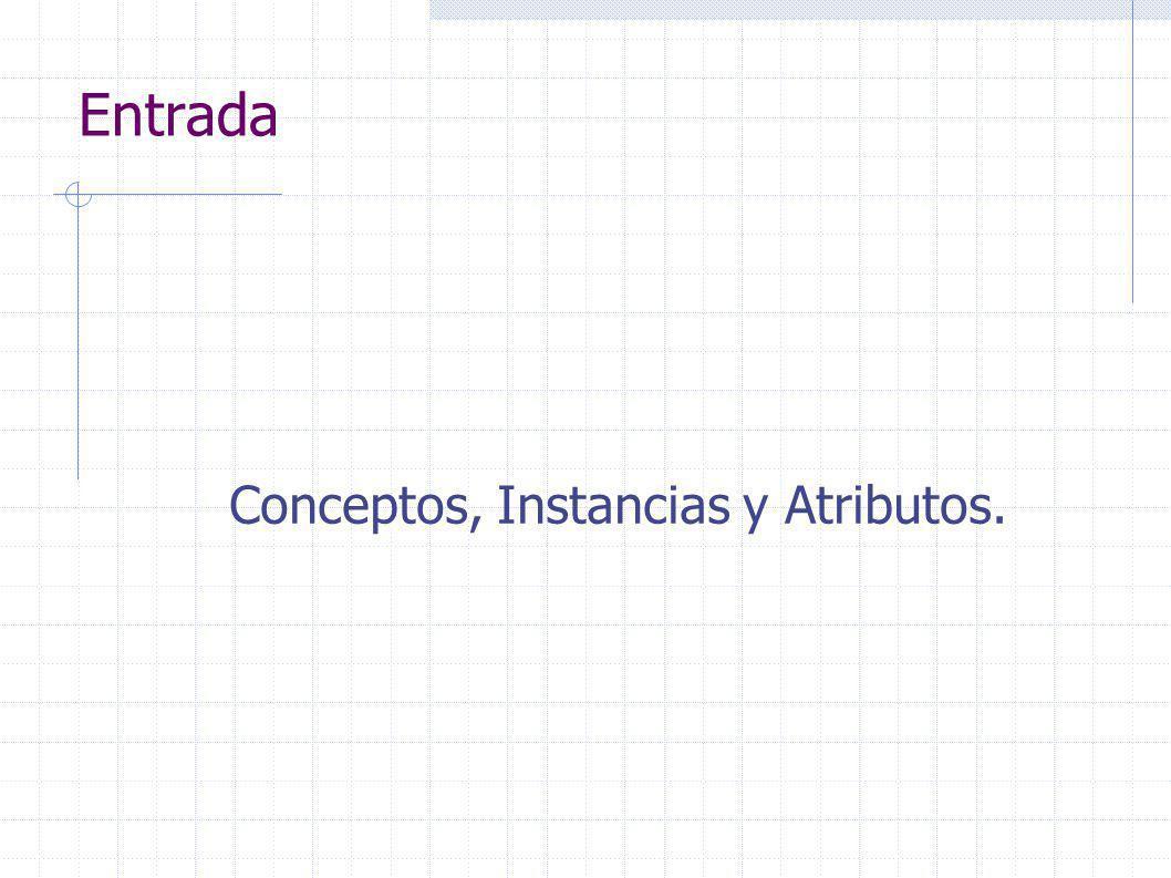 Entrada Conceptos, Instancias y Atributos.