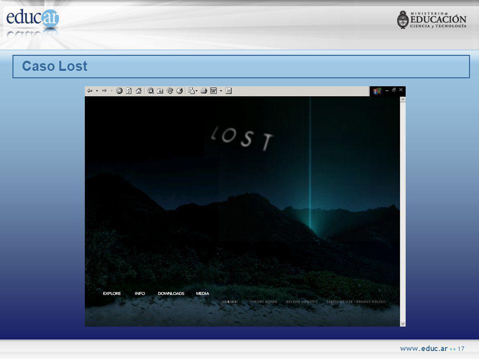 www.educ.ar >> 17 Caso Lost