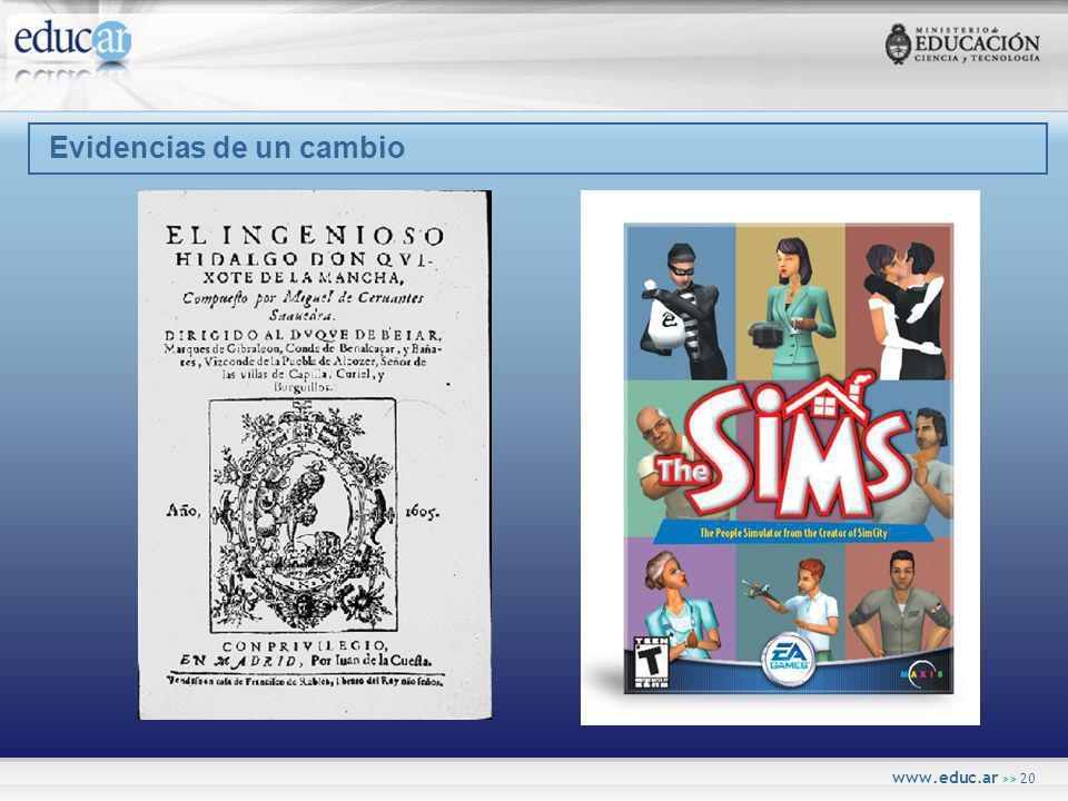 www.educ.ar >> 20 Evidencias de un cambio