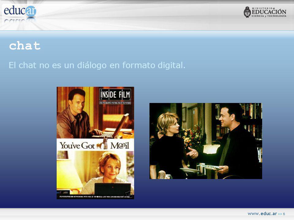 www.educ.ar >> 6 chat El chat no es un diálogo en formato digital.
