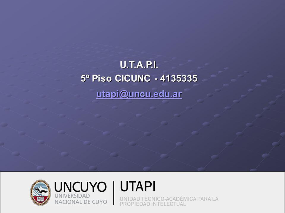 utapi@uncu.edu.ar U.T.A.P.I. 5º Piso CICUNC - 4135335