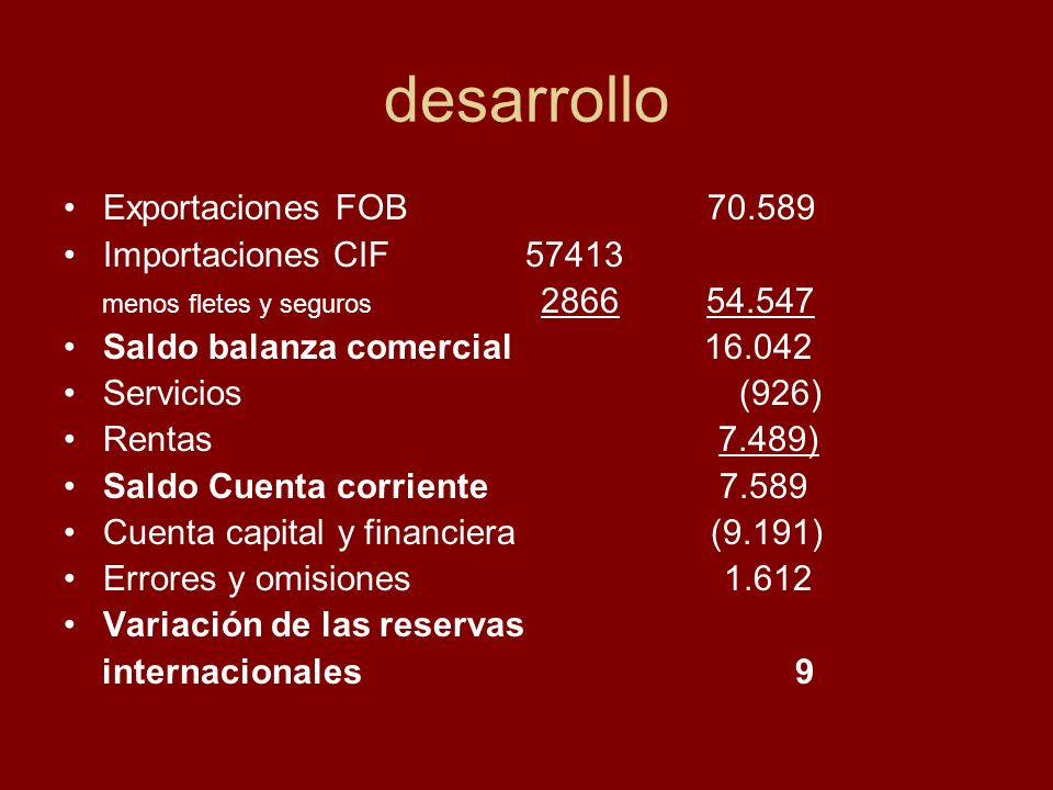 RENTAS PAGADAS 2008 en millones de u$s Intereses 5.625 Utilidades 7.418 Otras rentas (61) Total 13.043