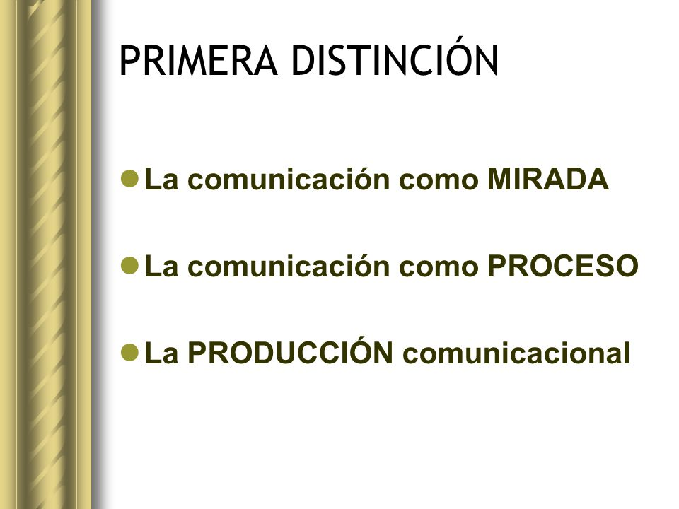 SEGUNDA DISTINCIÓN la producción