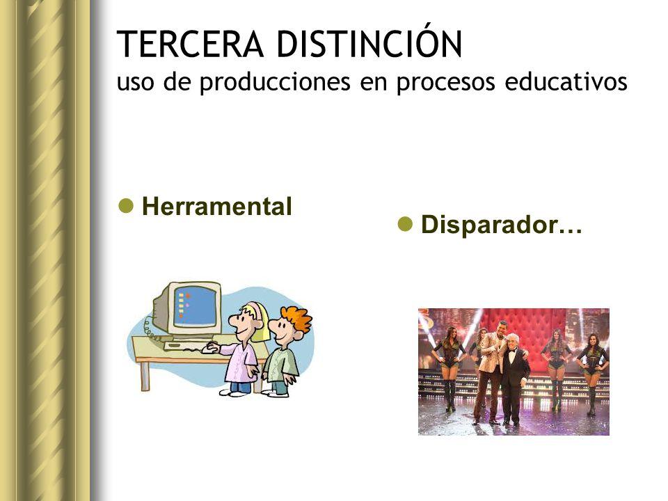 TERCERA DISTINCIÓN uso de producciones en procesos educativos Herramental Disparador…