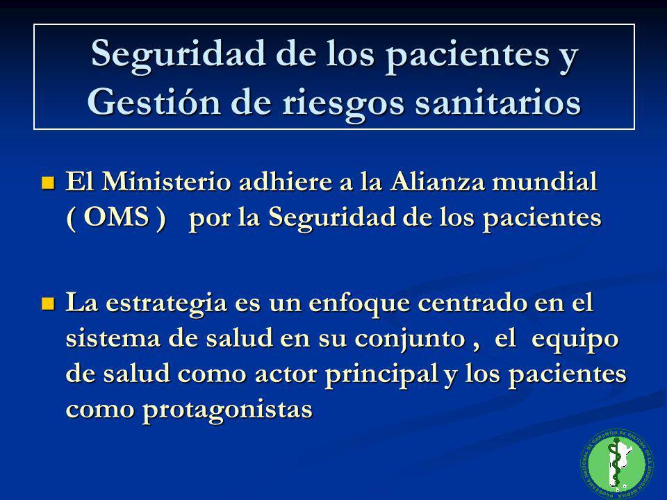 El Ministerio adhiere a la Alianza mundial ( OMS ) por la Seguridad de los pacientes El Ministerio adhiere a la Alianza mundial ( OMS ) por la Segurid