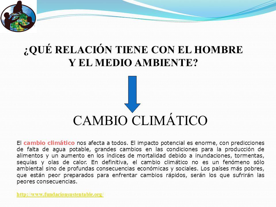 ¿QUÉ RELACIÓN TIENE CON EL HOMBRE Y EL MEDIO AMBIENTE.