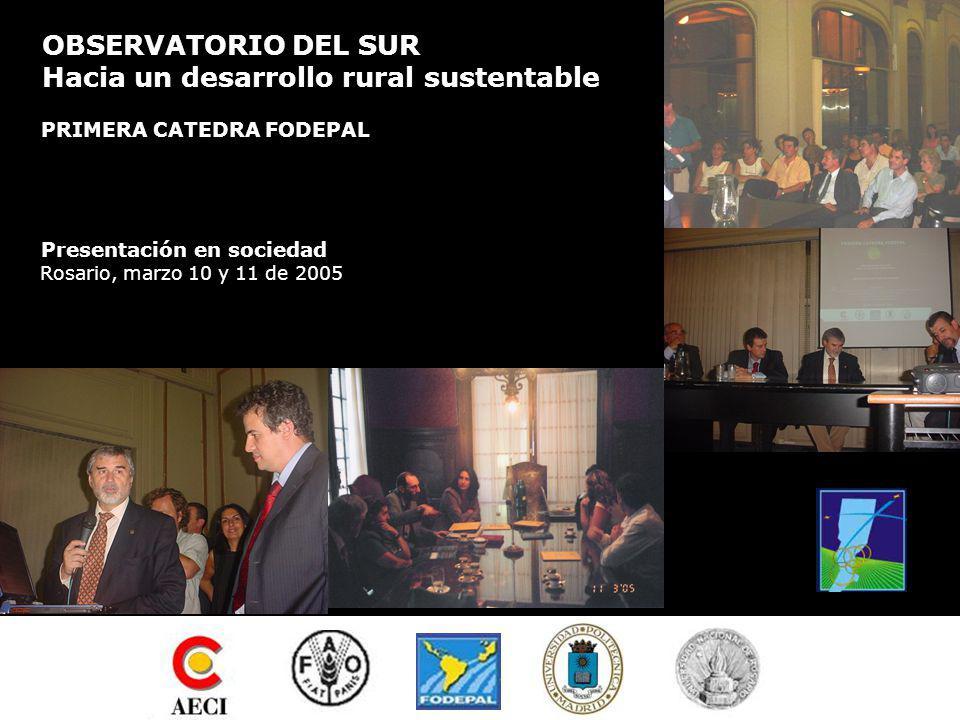 PRIMERA CATEDRA FODEPAL OBSERVATORIO DEL SUR Hacia un desarrollo rural sustentable COMPROMISO DE TRABAJO 2005-06 Objetivo 1.