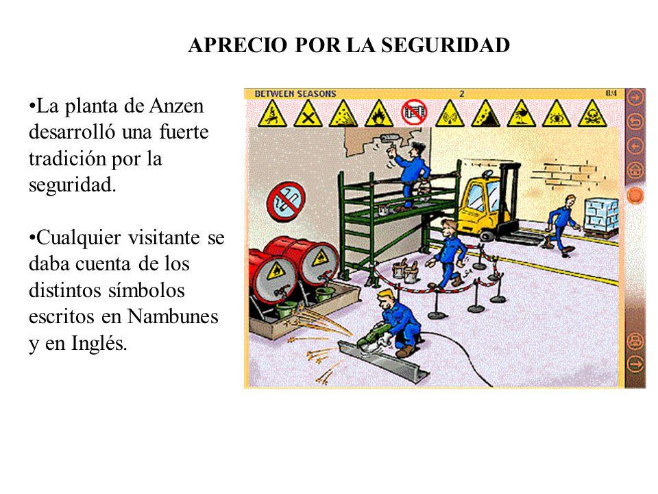 La planta de Anzen desarrolló una fuerte tradición por la seguridad. Cualquier visitante se daba cuenta de los distintos símbolos escritos en Nambunes
