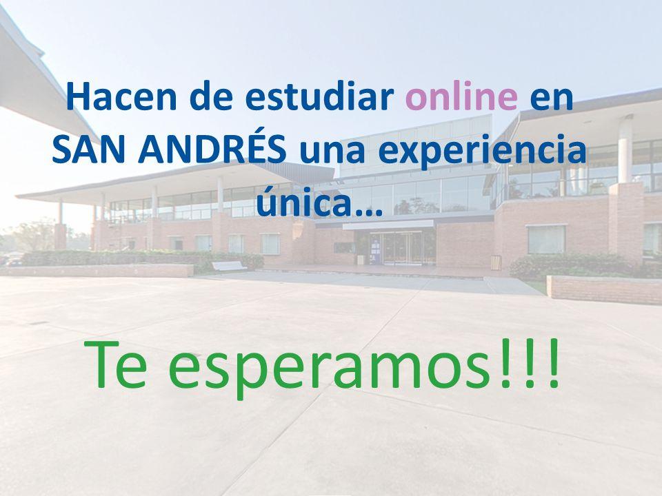 Te esperamos!!! Hacen de estudiar online en SAN ANDRÉS una experiencia única…