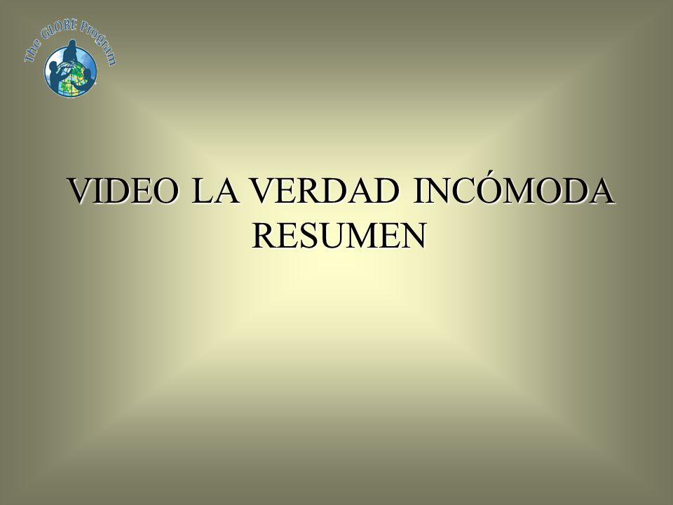 VIDEO LA VERDAD INCÓMODA RESUMEN