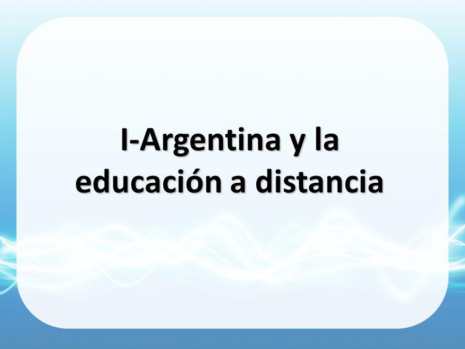 I-Argentina y la educación a distancia