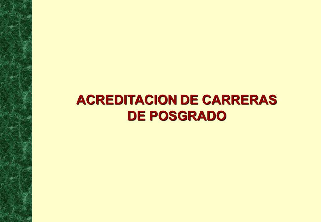 1 ACREDITACION DE CARRERAS DE POSGRADO