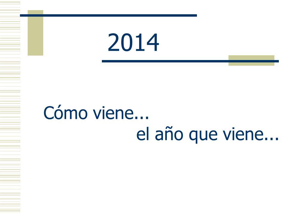 2014 Cómo viene... el año que viene...