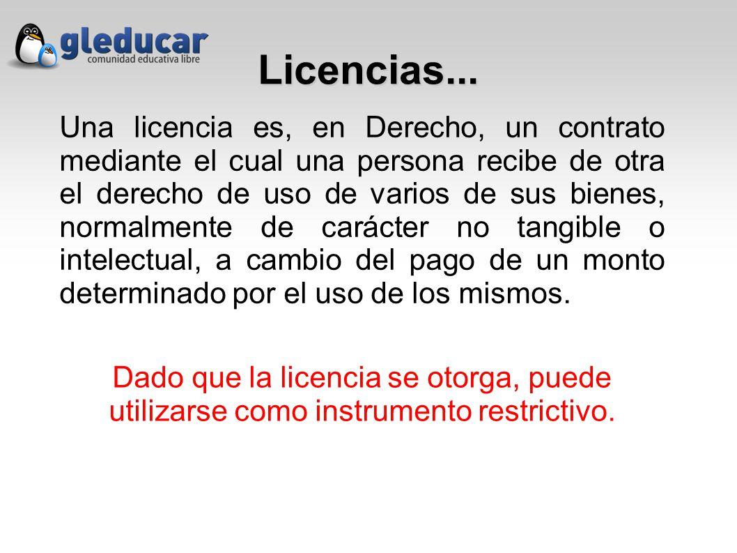 Licencias...