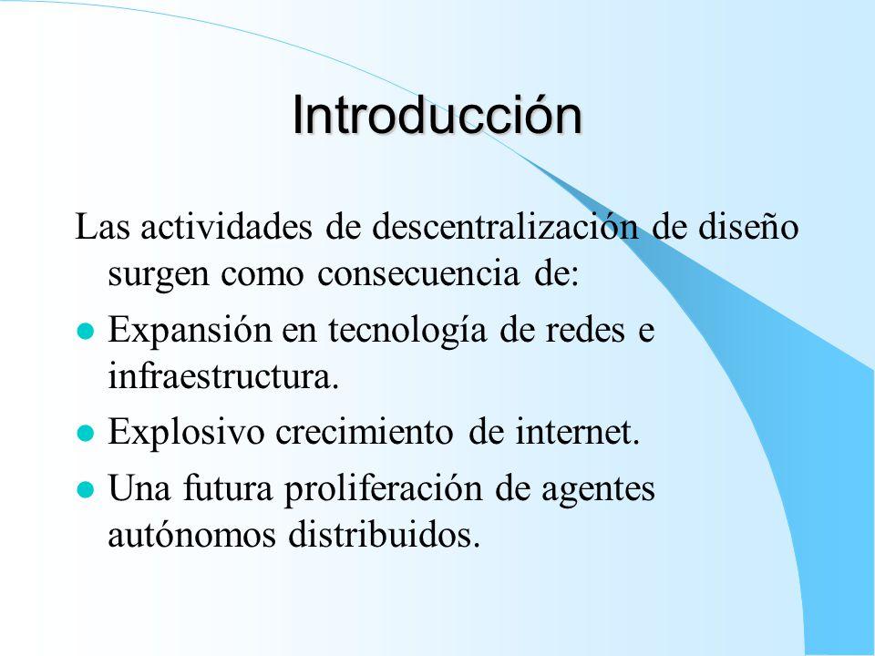 Introducción Las actividades de descentralización de diseño surgen como consecuencia de: l Expansión en tecnología de redes e infraestructura.