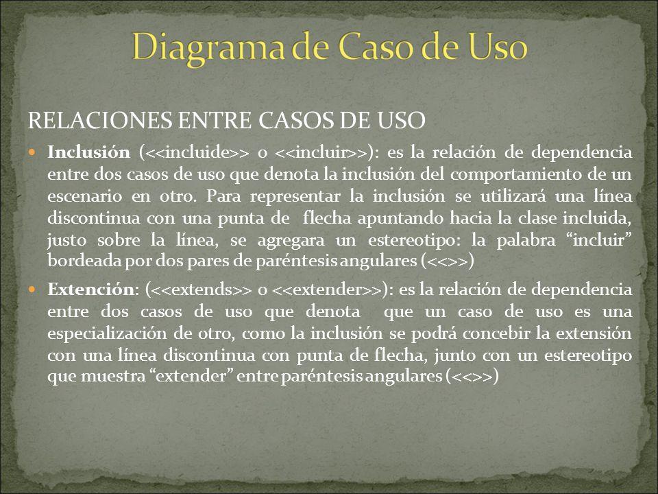 REPRESENTACION DE UN MODELO DE CASO DE USO Hay un actor que inicia un caso de uso y que se representa mediante una figura humana dibujada con palotes,