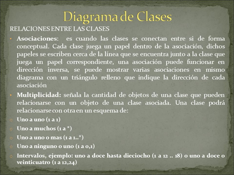 Es un tipo de diagrama estático que describe la estructura de un sistema mostrando sus clases, atributos y las relaciones entre ellos Son utilizados d