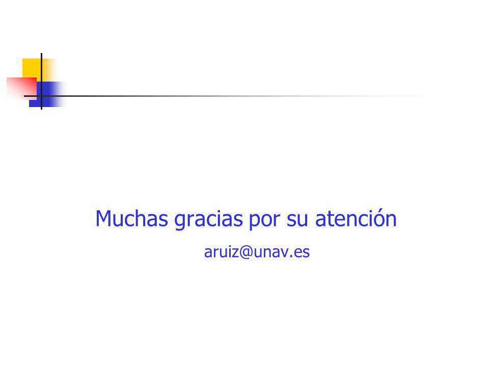 Muchas gracias por su atención aruiz@unav.es