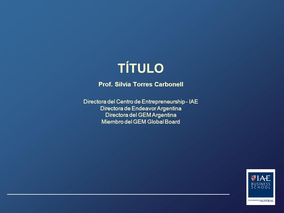 Emprendimientos por Sector Industrial en Argentina. 2007