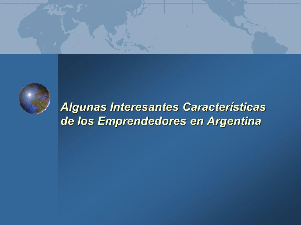 Algunas Interesantes Características de los Emprendedores en Argentina