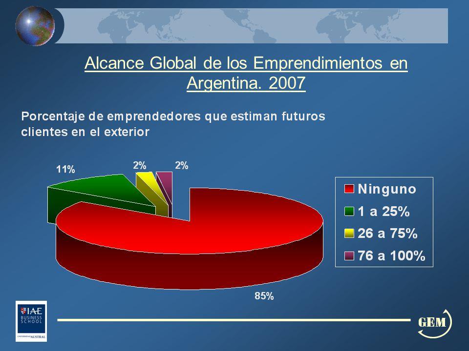 Alcance Global de los Emprendimientos en Argentina. 2007