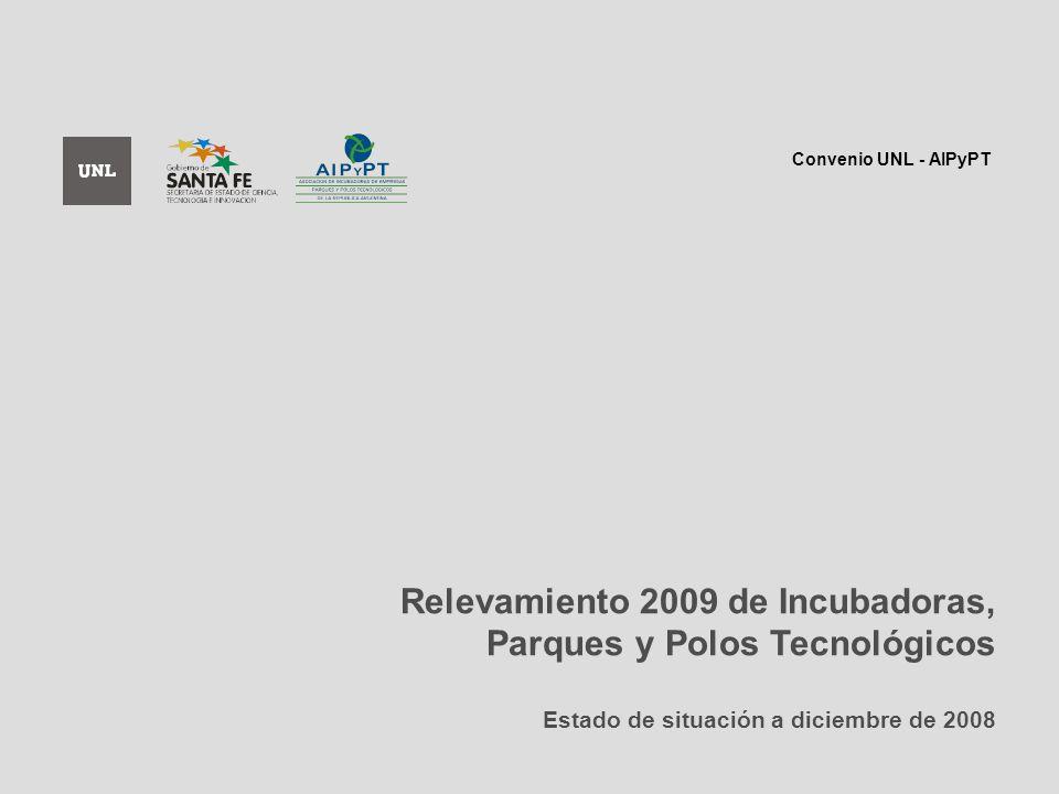 Relevamiento 2009 de Incubadoras, Parques y Polos Tecnológicos Estado de situación a diciembre de 2008 Convenio UNL - AIPyPT