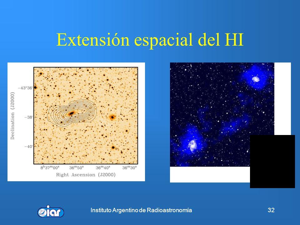 Instituto Argentino de Radioastronomía31 Aspecto óptico y en λ~ 21 cm de una MISMA galaxia