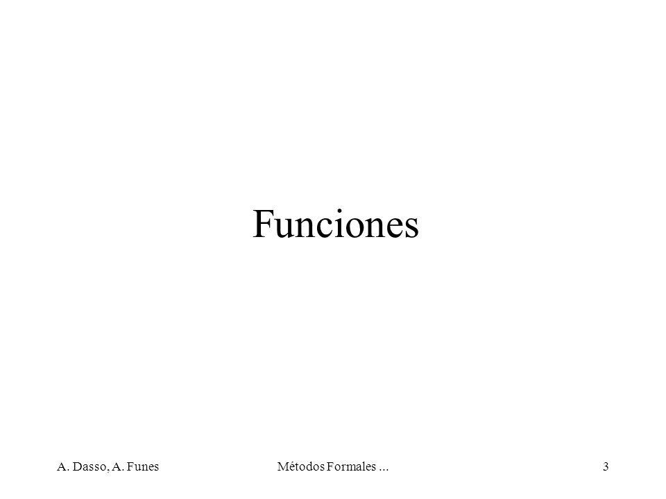 A. Dasso, A. FunesMétodos Formales...34 Conjuntos