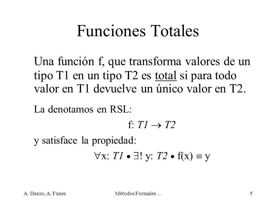 A.Dasso, A. FunesMétodos Formales...46 Expresiones de conjuntos con rangos, ejemplos {3..