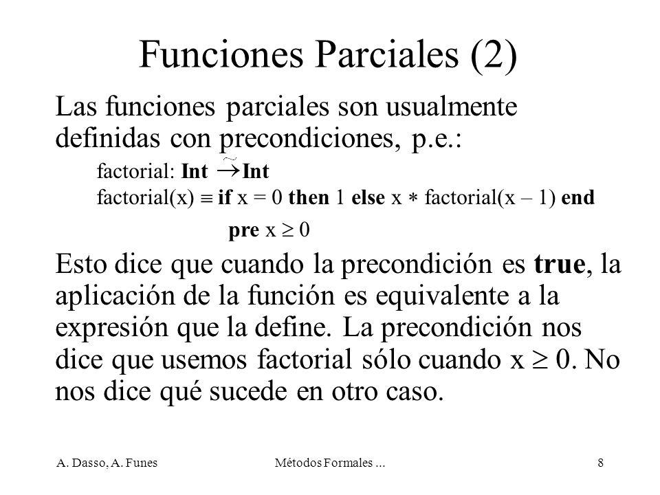 A. Dasso, A. FunesMétodos Formales...69 Un paso de desarrollo