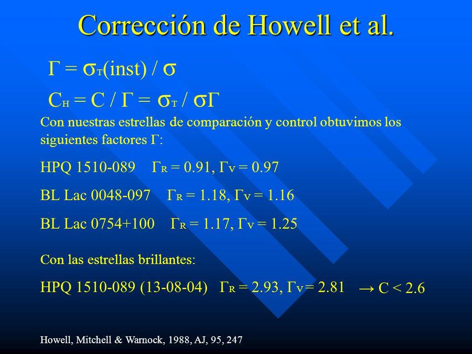Corrección de Howell et al.